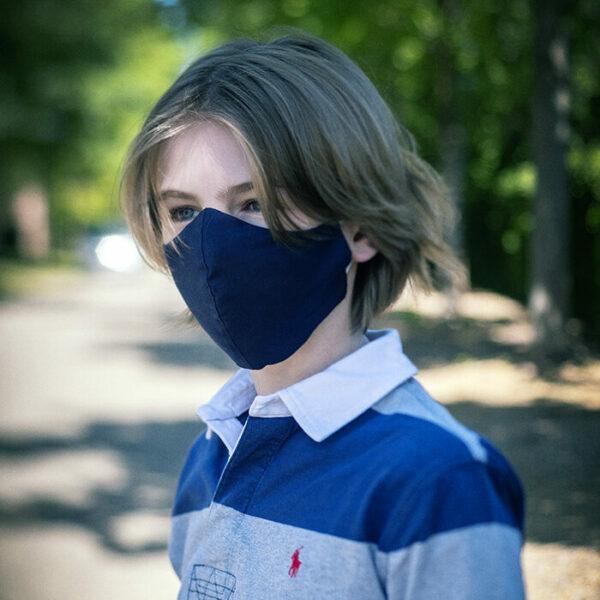 Masque buccal bleu marine