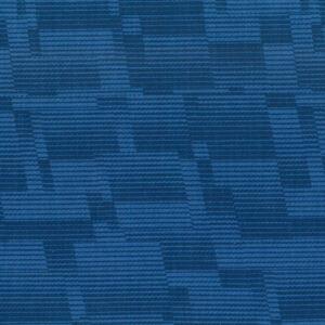 Mondmasker Blue Wavy Lines