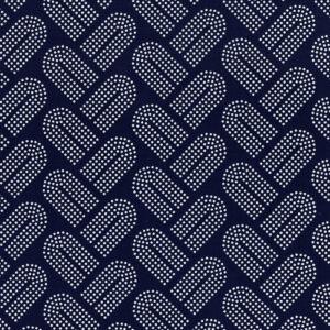 White navy dots