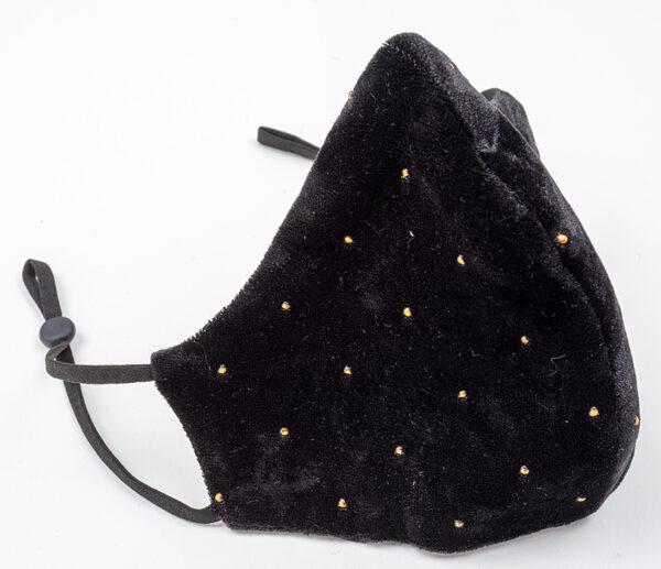 Mondmasker Velvet Black Copper Dots