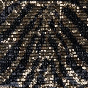 Mondmasker Gold Zebra Sequins